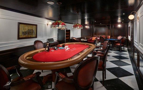 Cigar & Poker Club on Capella cruise