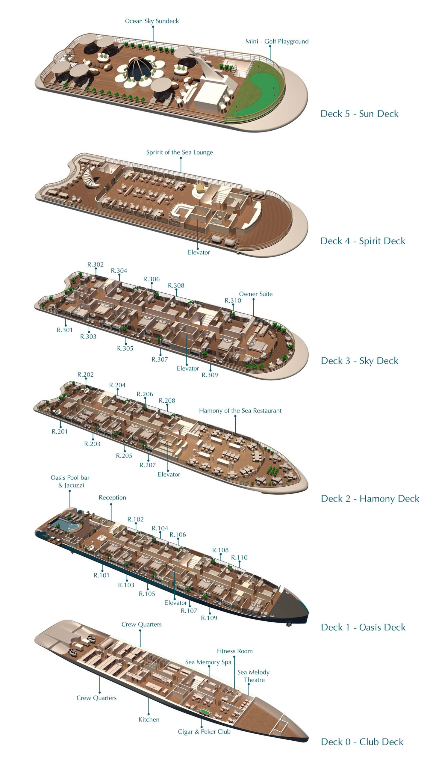 Capella Deck Plan